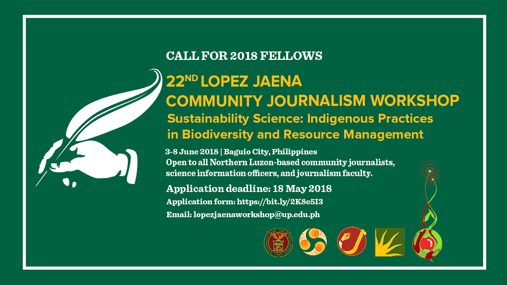 UP Mass Comm calls for 2018 Lopez Jaena Community Journalism fellows