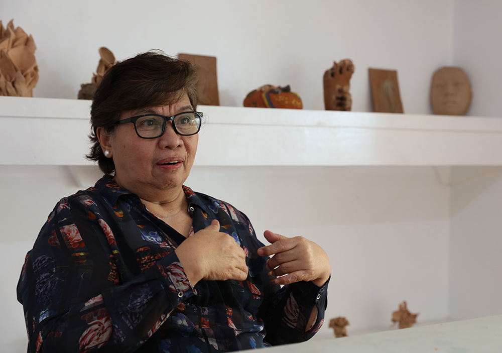 Artist, art gallery owner, and art supply store owner Virgie Garcia (Photo by Misael Bacani, UP MPRO)