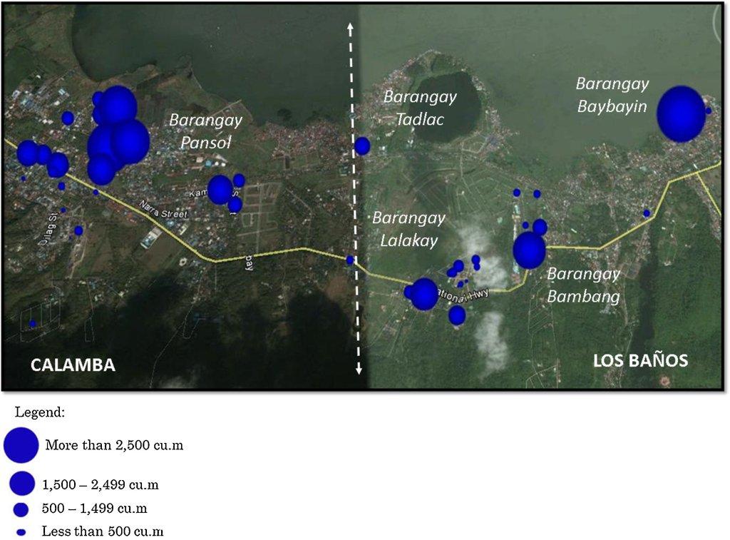 Estimated monthly water consumption (cu.m.) of surveyed resorts in Calamba and Los Baños during peak season. (Source: Journal of Hydrology: Regional Studies, Volume 11, June 2017, https://doi.org/10.1016/j.ejrh.2015.11.020)
