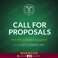 Call For Proposal - DOST-JSPS Joint Research Program 2019