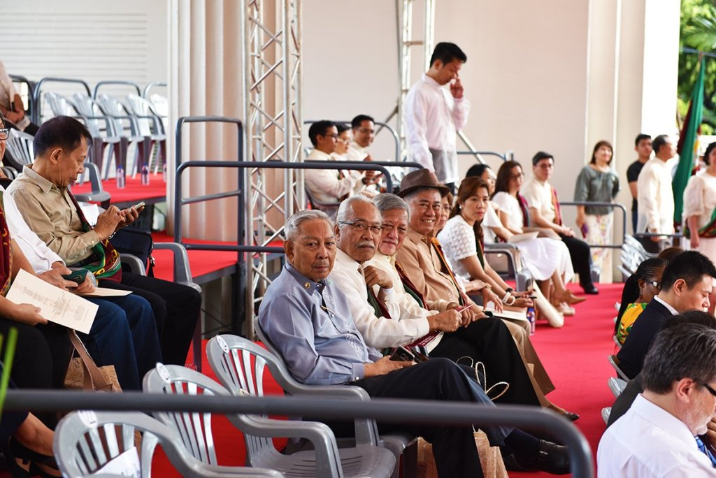 National Artists from the University, professors emeriti, and other senior faculty members take their seats early on in the program. (Photo by Abraham Arboleda, UP MPRO)