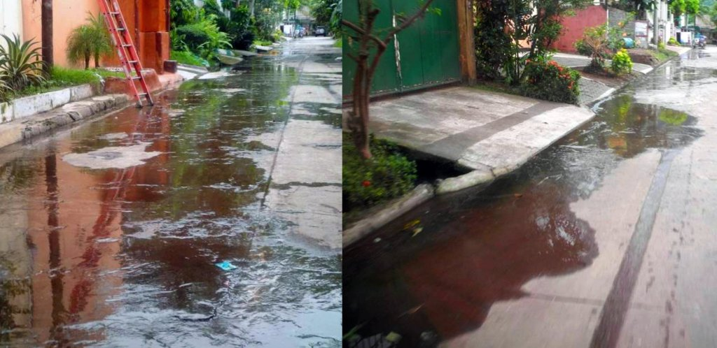 Used water are drained on the streets. (Photo courtesy of research team)