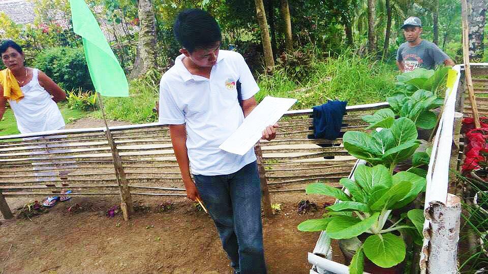 Del Carmen's purok evaluation (Photo courtesy of the Local Government of Del Carmen, Surigao del Norte)