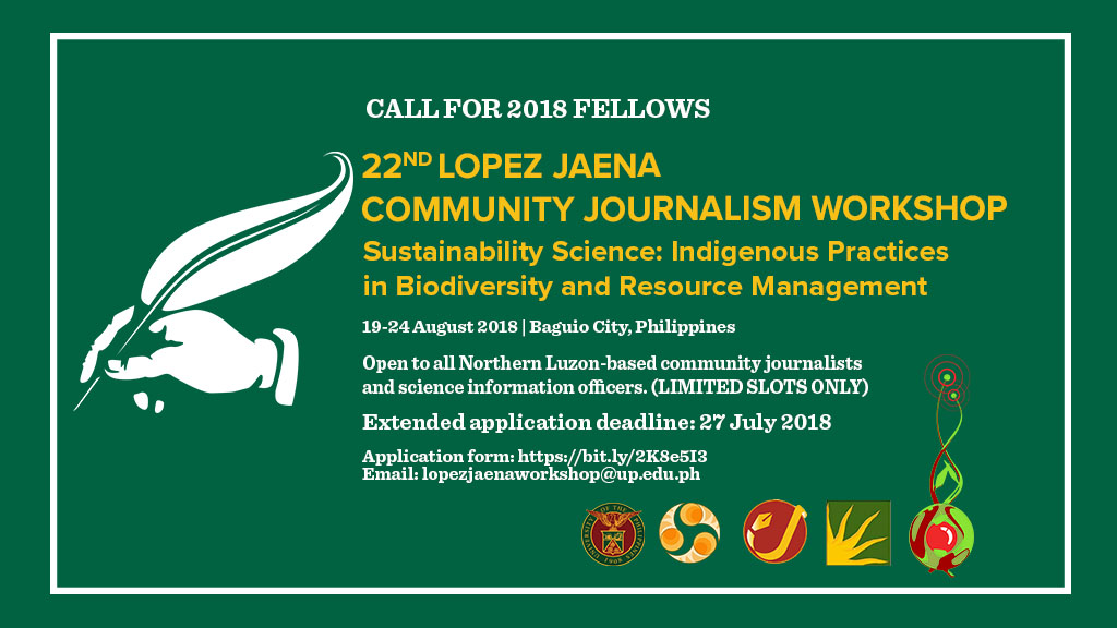 Call for 2018 Lopez Jaena Community Journalism fellows extended