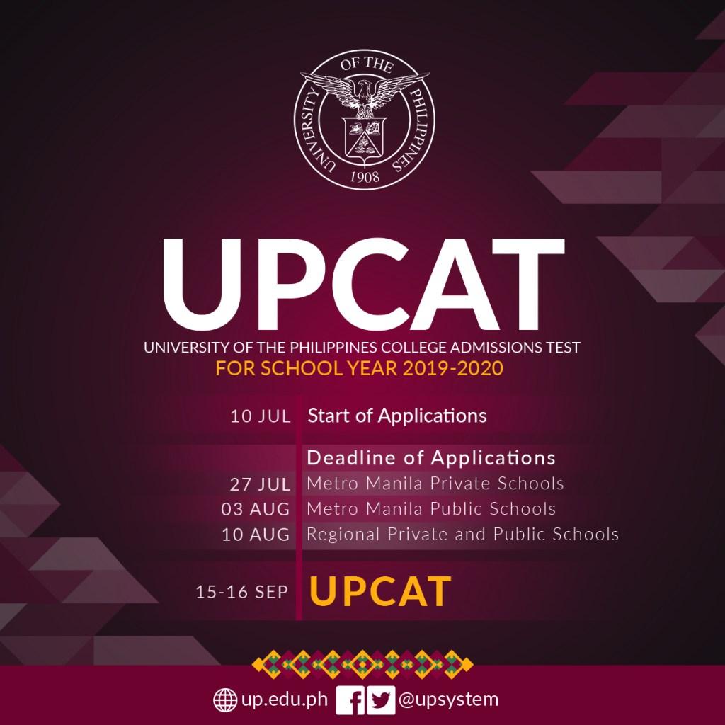 UPCAT 2019 Online Application Now Open