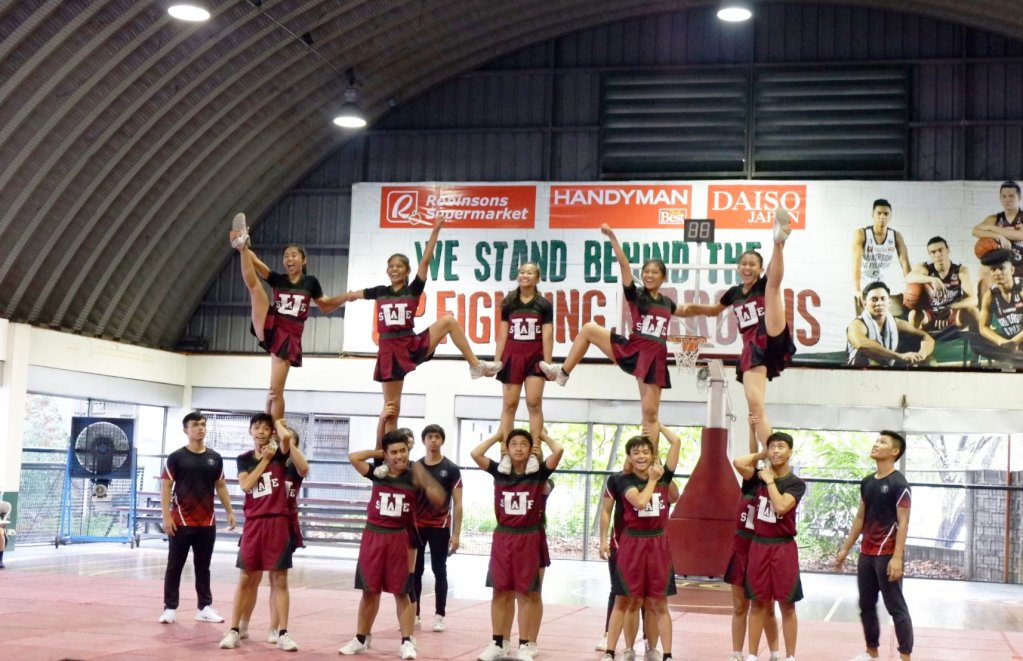 The UPIS Pep Squad wins the championship at the Elevate 18: Lift One Another UP Cheerdance Competition held at the UP Diliman College of Human Kinetics on May 7, 2018. (Photo posted by Maribel Tapel and Anne Mapa in the UPIS Parents Information Board Facebook group page.)