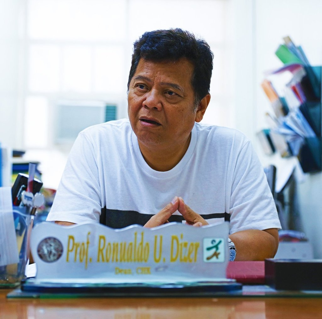 UP Diliman College of Human Kinetics Dean Ronualdo Dizer. (Photo by Misael Bacani, UP MPRO)