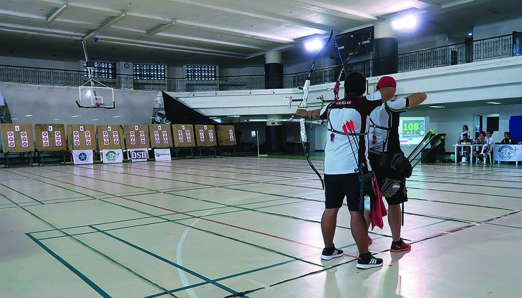 The 9th ADMU-DLSU-UP Tri Meet in September 2017. (Photo from the UP Archery Club)