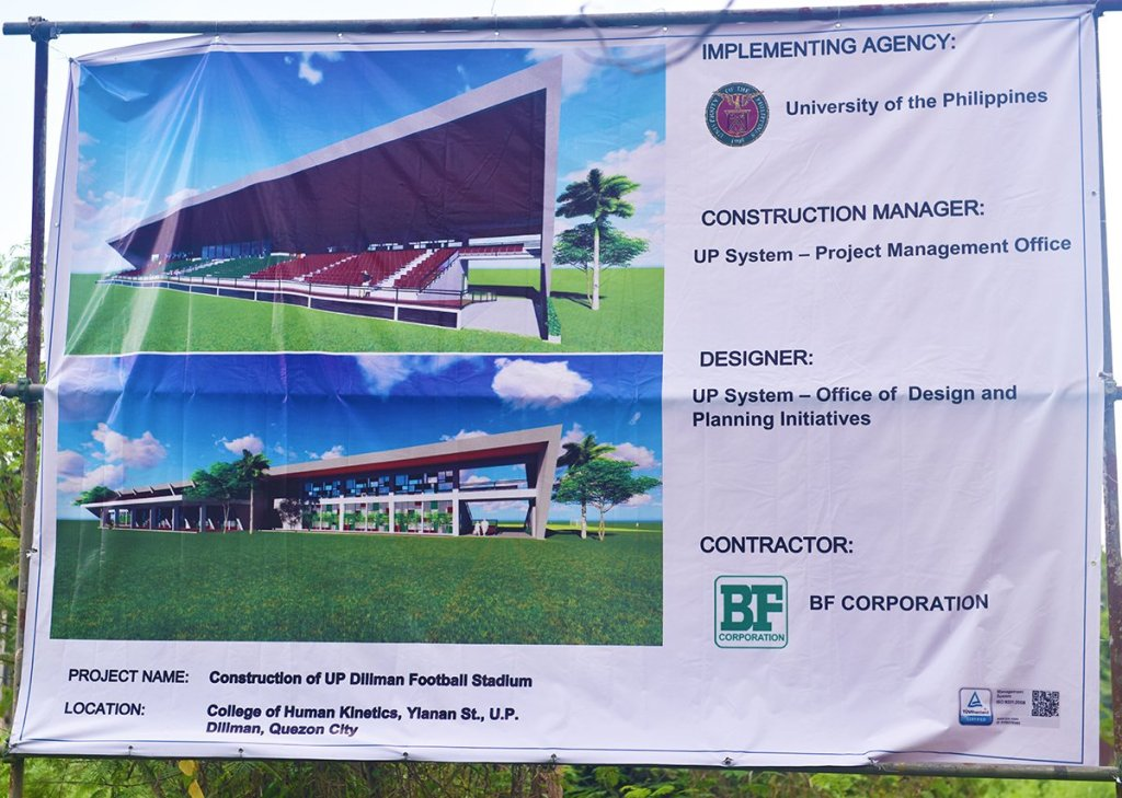 Plans for the UP Diliman Sports Complex Football Stadium to replace the old grandstand. (Photo by Bong Arboleda, UP MPRO)