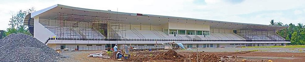 The Davao City-UP Sports Complex Football Stadium's Multipurpose Building nears completion. (Photo by UPMin CPDO)