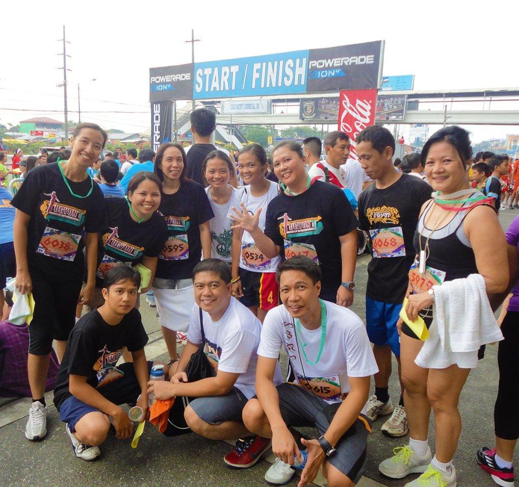 UPV folks at CSC Fun Run, with VCA Gumban, March 2012.