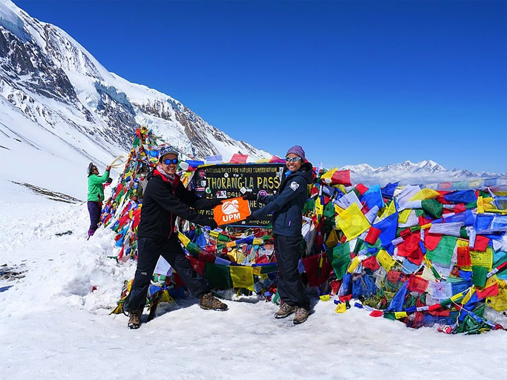 UPM members at the base of Annapurna mountain range of central Nepal. (Photo by Dennis Lopez)