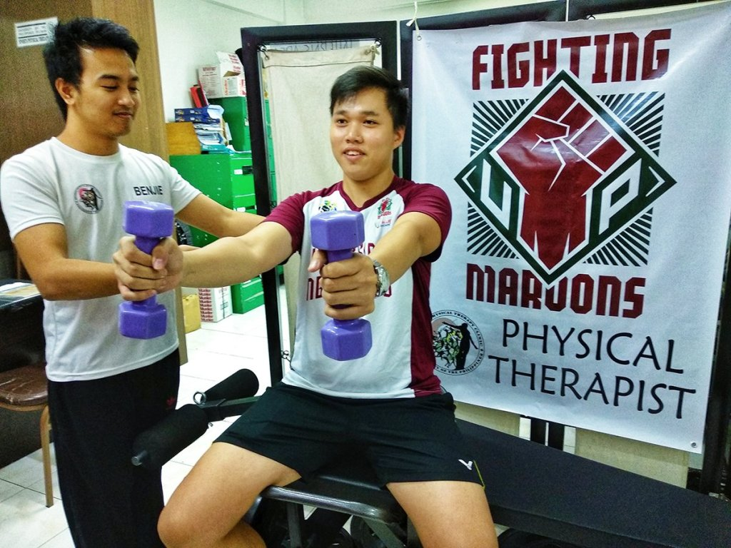 Athlete's clinic-based rehabilitation session. (Photo from the UP Sports Physical Therapy Clinic)