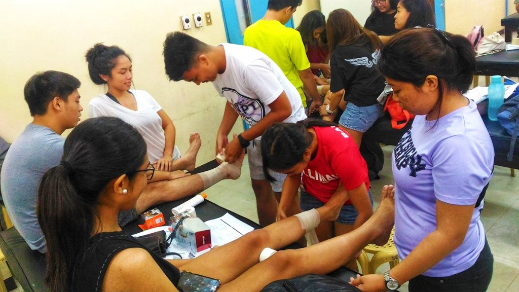 Interns' lecture sessions done at the start of their internship rotation to equip them with necessary knowledge and skills upon duty assignments. (Photo from the UP Sports Physical Therapy Clinic)