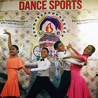 UPHSI's winning dancers, representing Region 6 at Dance Sports (Modern Standard and Latin Dance) during the Paralong Pambansa 2018. (Photo from Imelda Catequista)