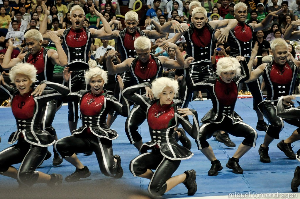The UP Pep channeling the ageless influence of Madonna in the 2011 UAAP Cheerdance Competition. (Photo by Miguel Mondragon)