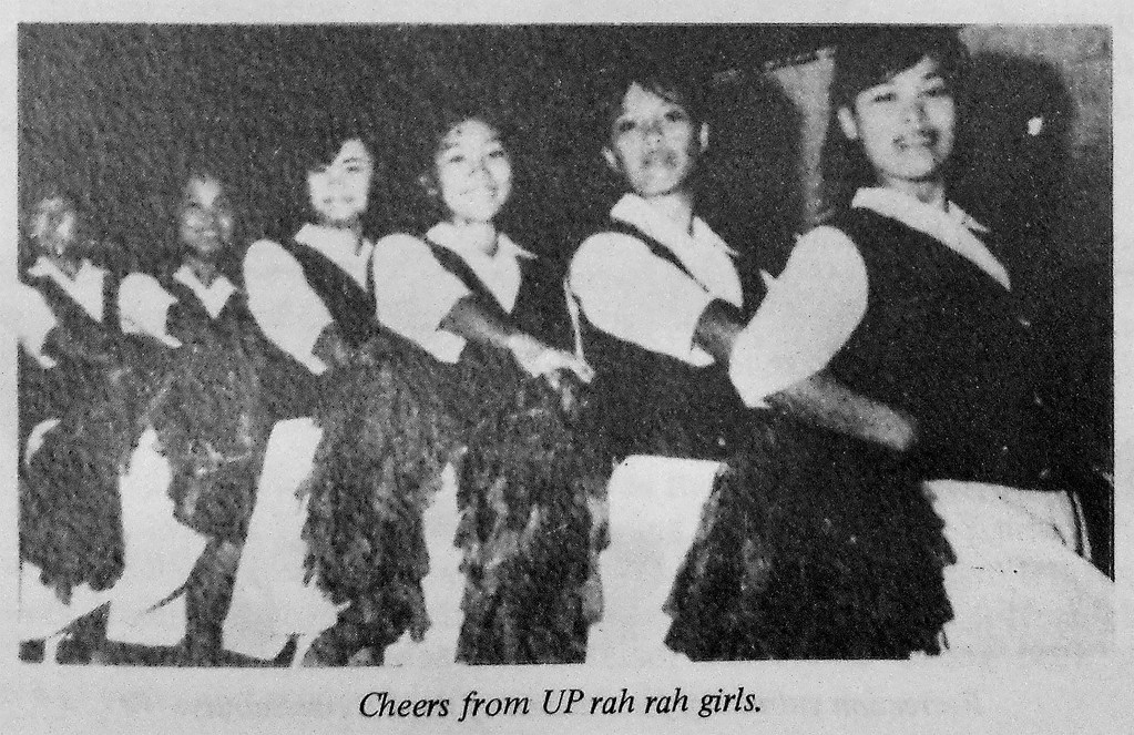 The UP Rah Rah Girls. (Photo from Education Through the Physical: The UP SPEAR Story by Celia Bocobo Olivar)