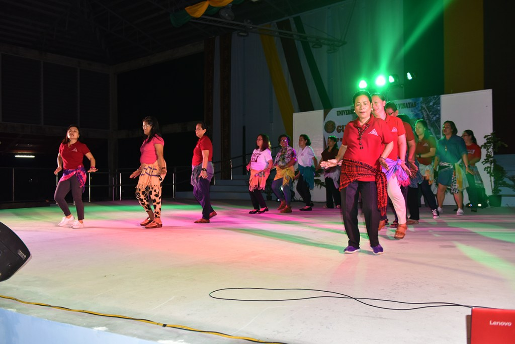 UP Manila delegates present mixed dances and a protest version of UP Naming Mahal. (Photo by Bong Arboleda, UP MPRO)