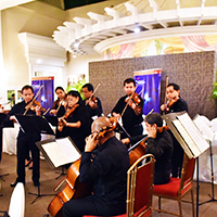 Some members of the Philippine Philharmonic Orchestra play excerpts from Vivaldi and Mozart compositions. (Photo by Bong Arboleda, UP MPRO)