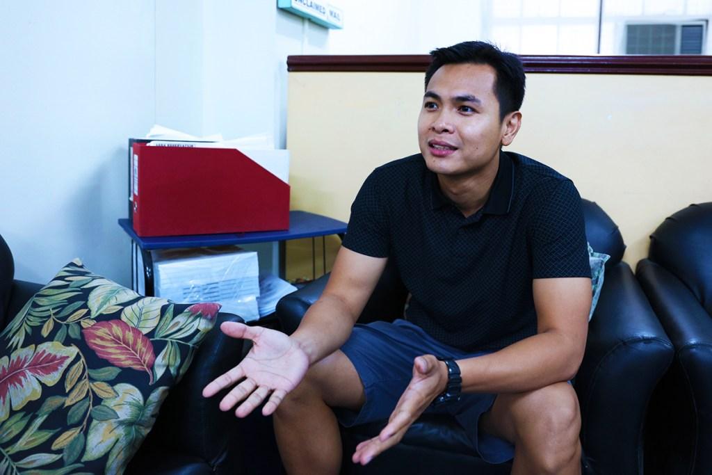Marcus Manalo explains the importance of mental skills. (Photo by El Bacani, UP MPRO)