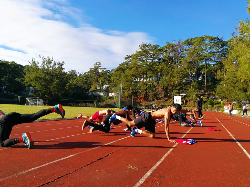 The Philippine National Boxing Team warming up. (Photo by Marcus Jarwin Manalo)