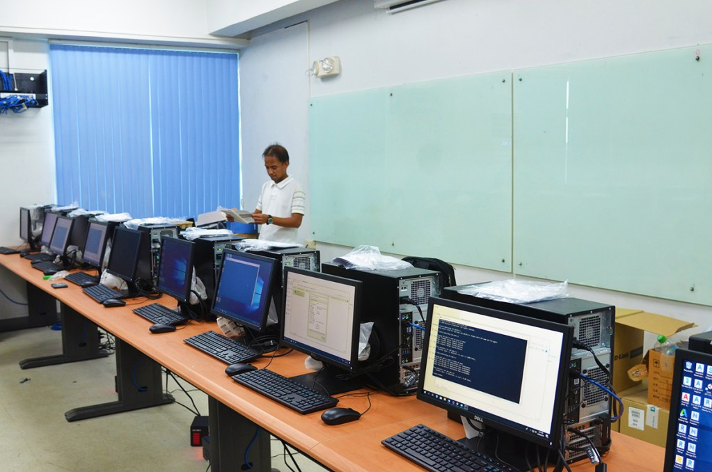 Some of the computer sets at the DMCI Homes Computational Laboratory which will be operational starting this coming school year 2018-2019.