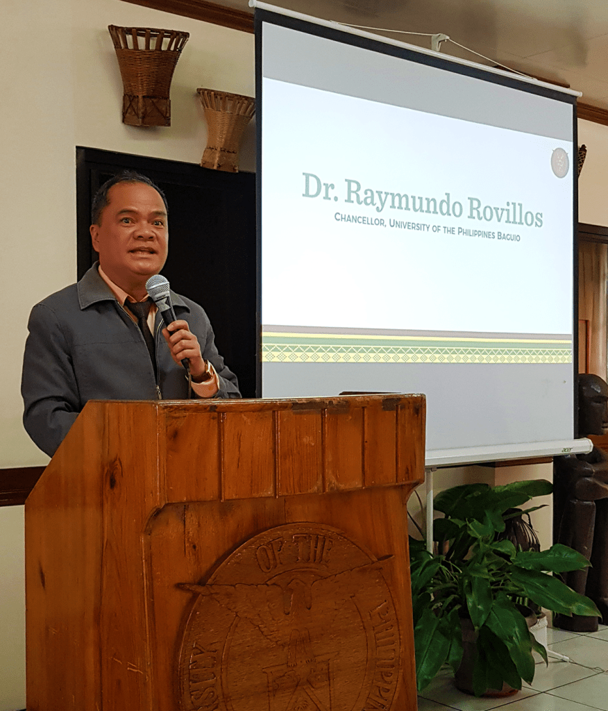UP Baguio Chancellor Raymundo Rovillos giving his welcome remarks. (Photo by Celeste Llaneta, UPMPRO)