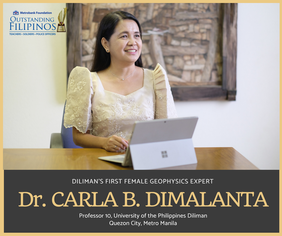 (Photo taken from: https://www.facebook.com/mbfi.outstandingfilipinos/photos/dr-carla-b-dimalantadilimans-first-female-geophysics-expertas-the-only-female-ex/280099259071066/)