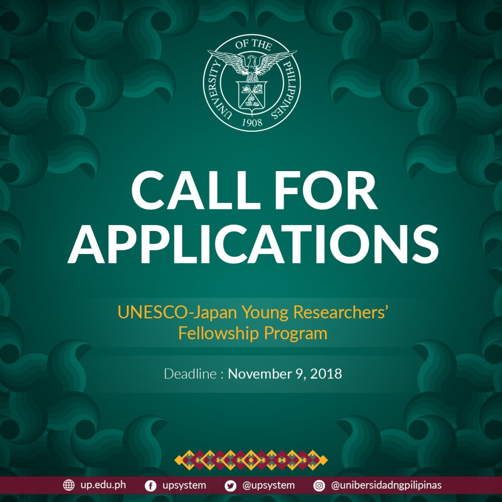 all For Applicantions - UNESCO Japan Young Researchers' Fellowship Program