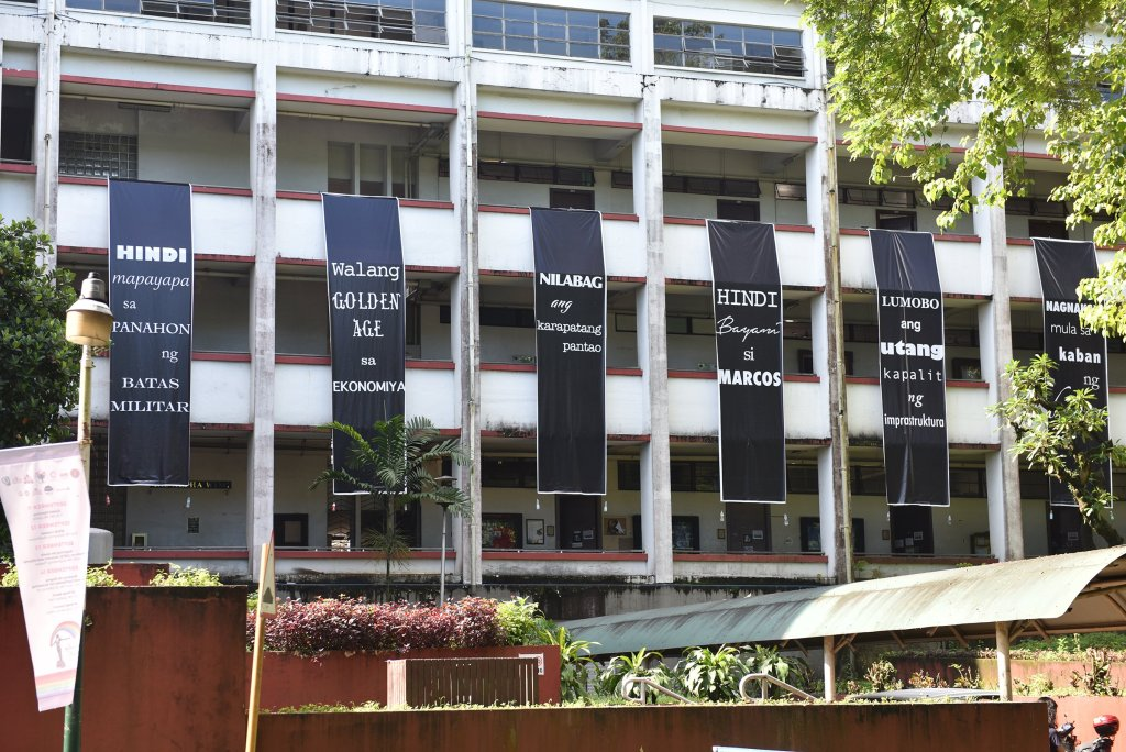 Palma Hall on the first UP Day of Remembrance. Photo by Bong Arboleda, UP MPRO
