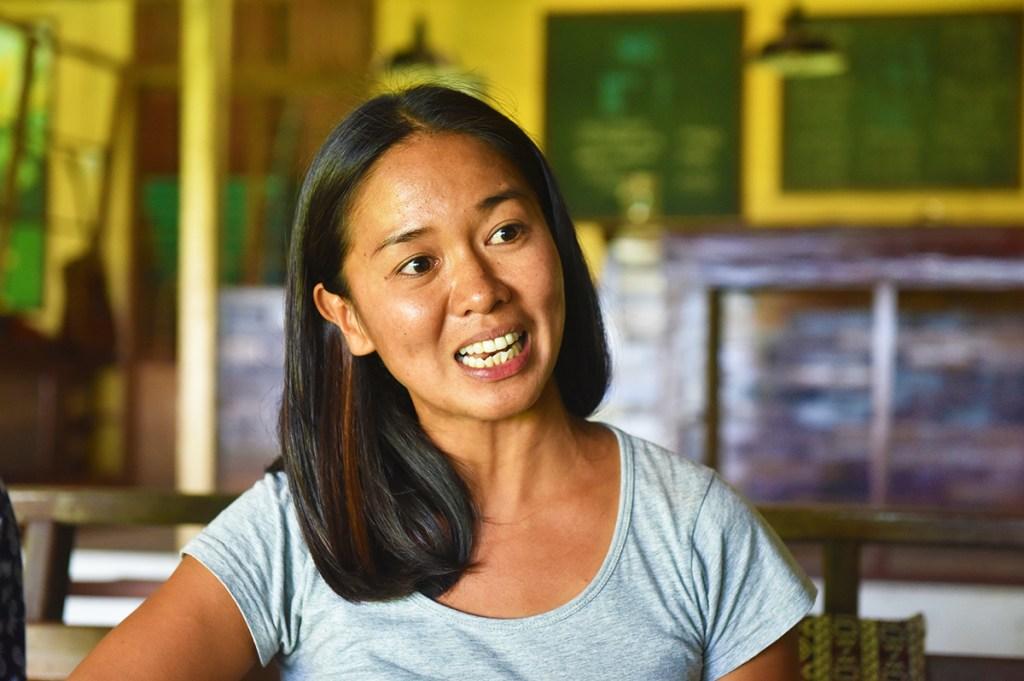UP CSWCD alumna Marja Abad shares her Iska story (Photo by Bong Arboleda, UP MPRO)