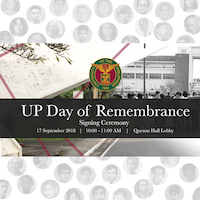 Sept. 21 to be proclaimed UP Day of Remembrance