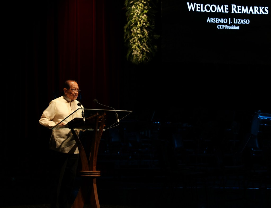 CCP President Arsenio Lizaso delivers the welcome remarks. (Photo by Misael Bacani, UP MPRO)