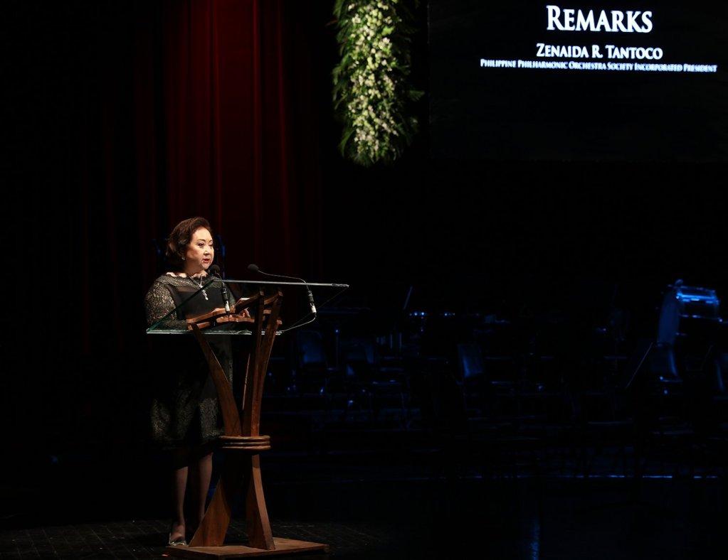 PPOSI President Zenaida Tantoco speaks during the opening program. (Photo by Misael Bacani, UP MPRO)