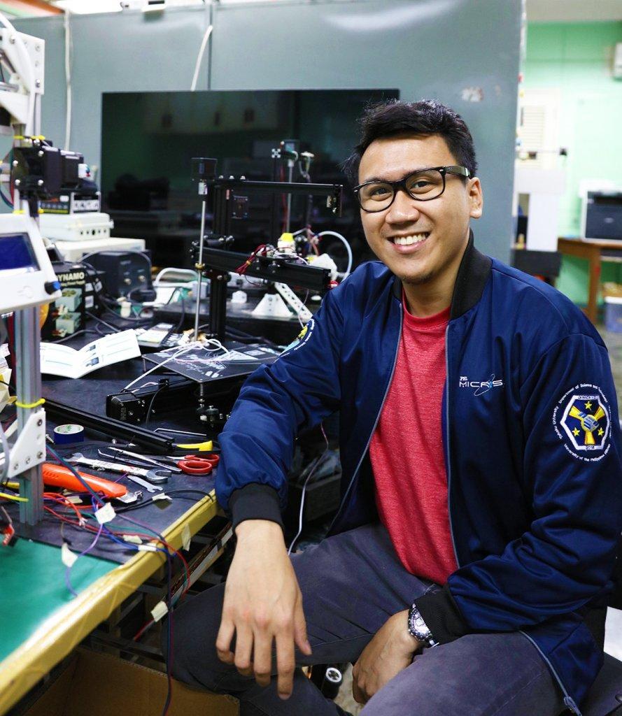 Engr. Ariston Gonzalez of the PHL-Microsat bus development team. (Photo by Misael Bacani, UP MPRO)