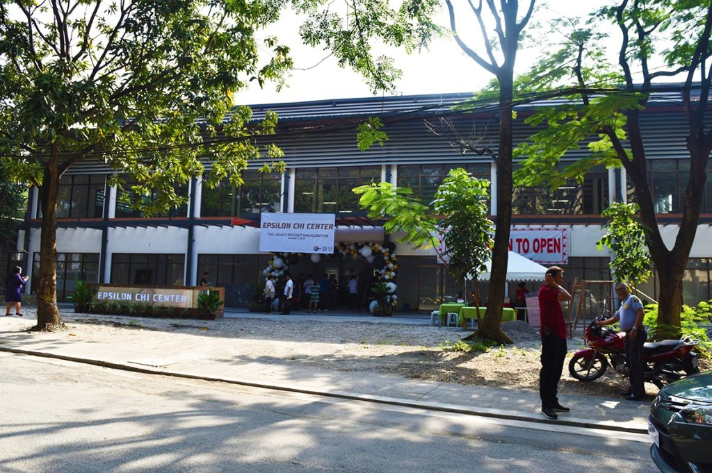 The Epsilon Chi Center is located between the Ang Bahay ng Alumni and the Molave Residence Hall in UP Diliman. (Photo by Bong Arboleda, UP MPRO)