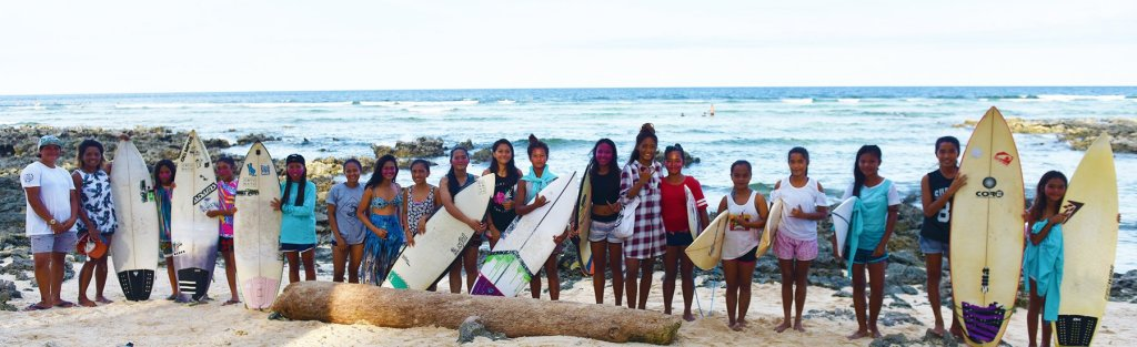 Young wahines converge from all over the country for Surf to School's Siargao leg (Photo by Bong Arboleda, UP MPRO)