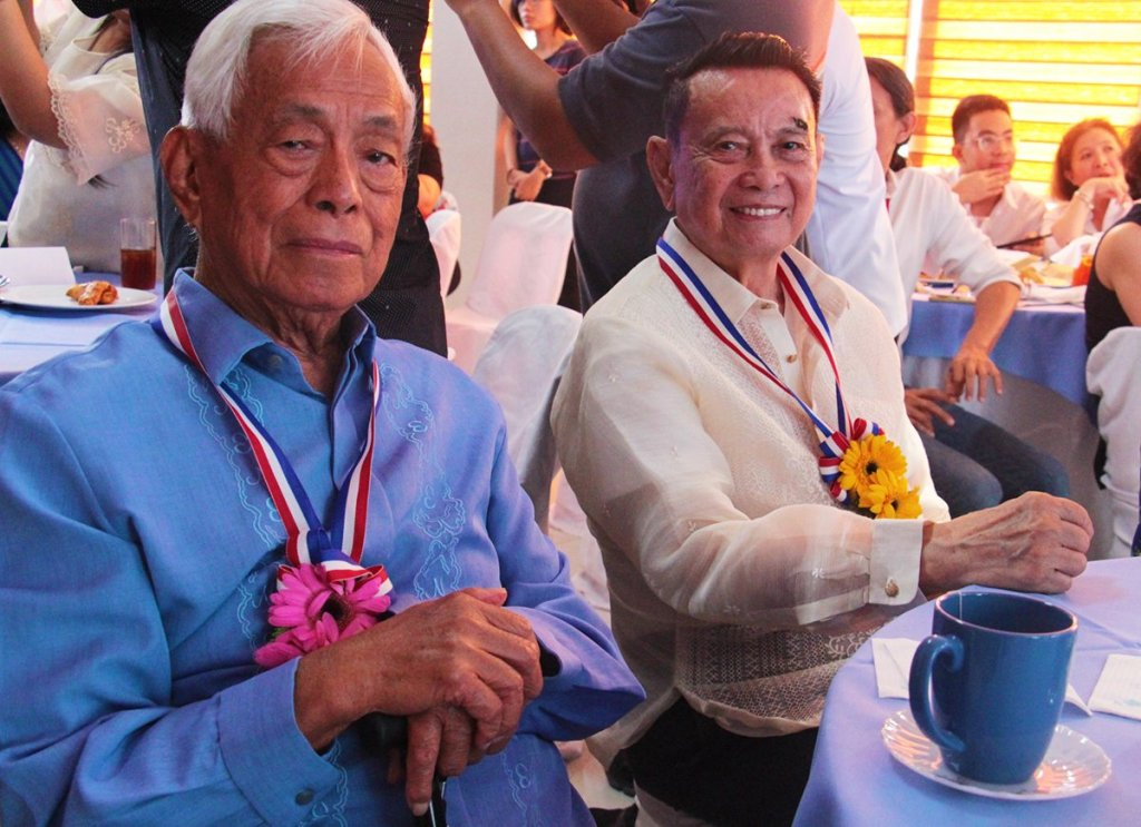 Former Senate President Aquilino Q. Pimentel Jr. and former Vice President Teofisto T. Guingona Jr. (Photo by Jun Madrid, UP MPRO)