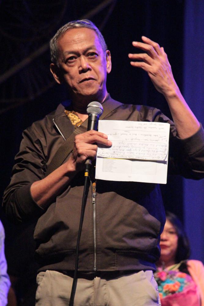 Nanding Josef, the artistic director of Tanghalang Pilipino. (Photo by Jun Madrid)