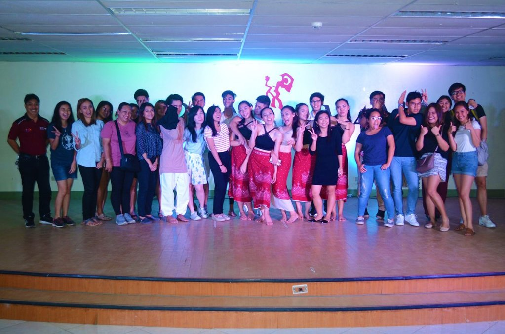 UP Mindanao Dance Ensemble members posing with friends after a performance, circa 2014-2018. (Photo from Ira Apara, UPMinDE)