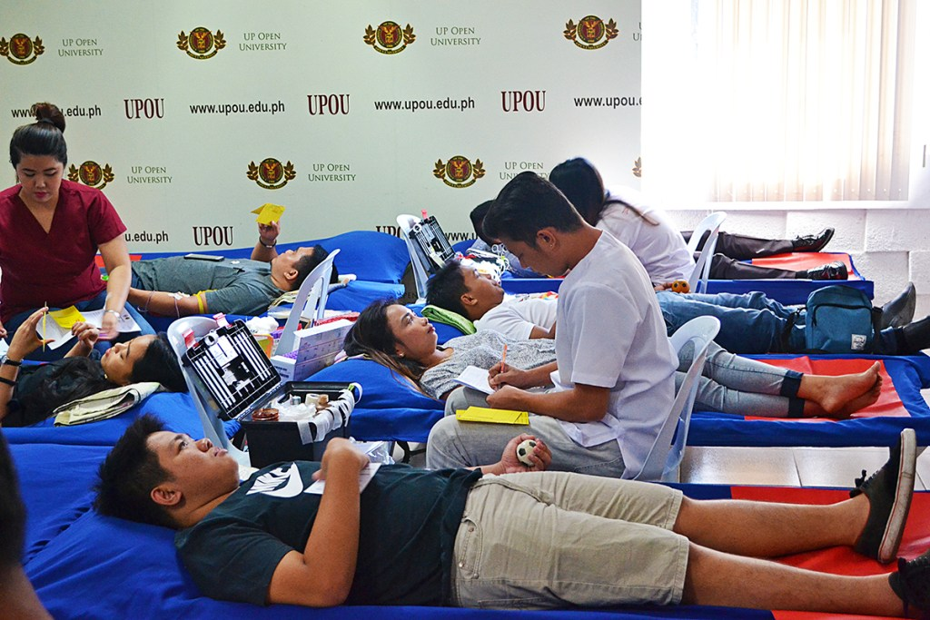 2018 UPOU Blood Donation Drive (Photo from UPOU FICS)