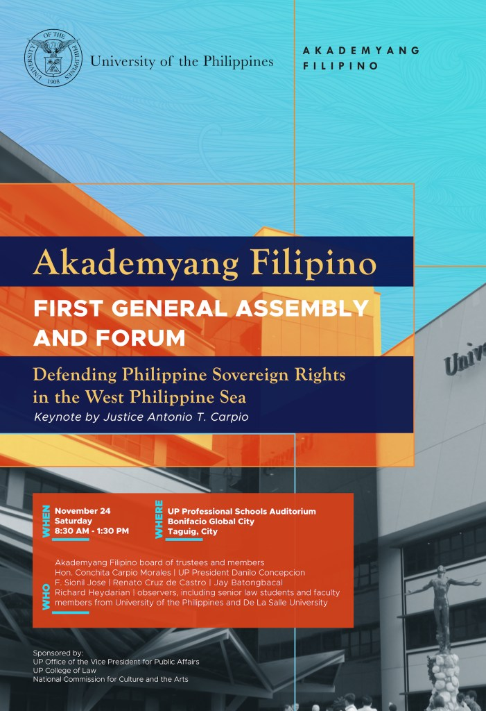 Akademyang Filipino to discuss West Philippine Sea dispute in first general assembly