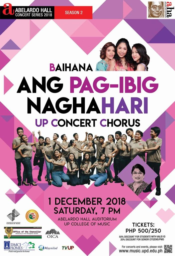 Abelardo Hall Concert Series Season 2 finale with Concert Chorus, Baihana