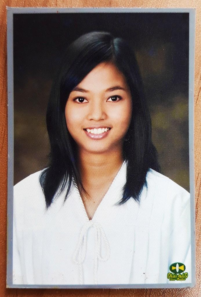 Haydelle Amoloza in her high school graduation photo (Photo from Emely Amoloza, UPOU FICS)