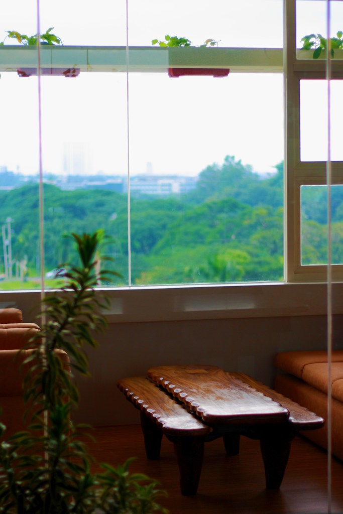 Feeling at home is provided not just by rustic scenes such is laid out outside the window of the Board of Regents Room, Quezon Hall, UP Diliman, but by a sense of control and security. (Photo by Jo. Lontoc, UP MPRO)