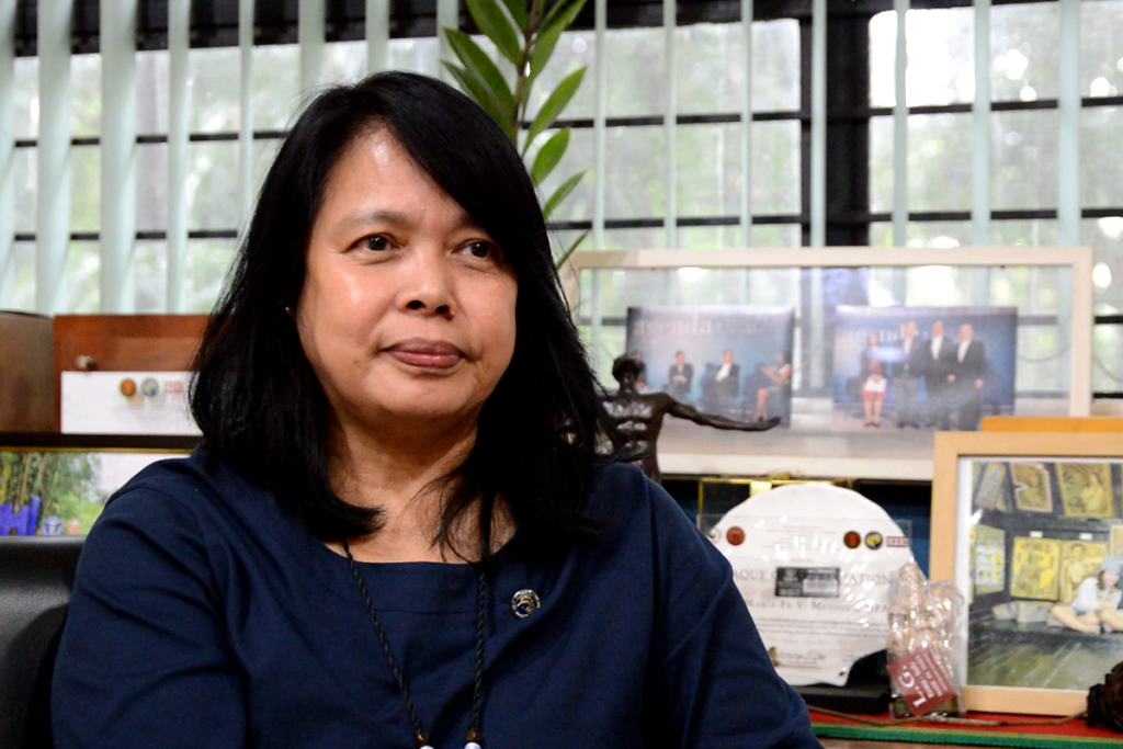 Prof. Maria Fe Villamejor-Mendoza. Dean of the National College of Public Administration and Governance.