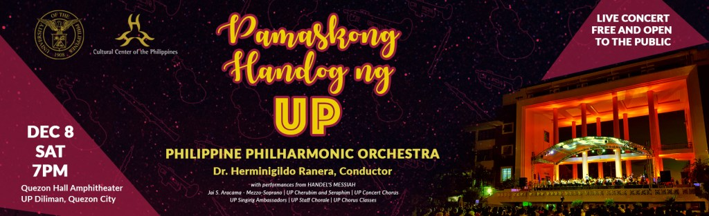 UP, Philippine Philharmonic Orchestra bring Handel's Messiah free to the public