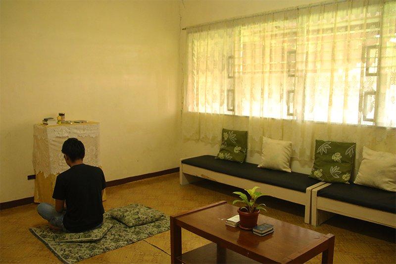 Finding solace at UP Visayas' reflection room (Photo courtesy of Lyncen Marañon, UP Visayas)