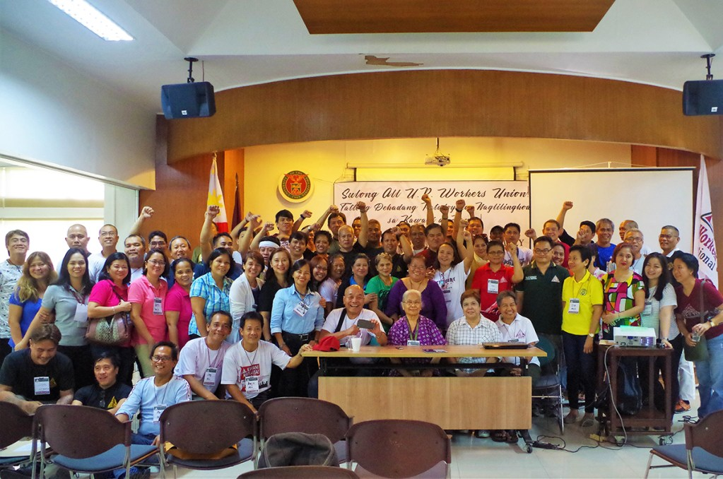 Officers and members of the AUPWU chapters across the archipelago during the union's National Assembly last July 2017, College of Home Economics, UP Diliman, Quezon City. (Photos by Fred Dabu, UP MPRO