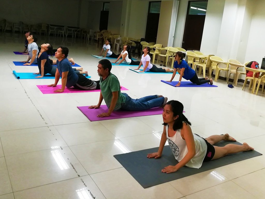 Yoga sessions were among the AUPAEU-UPLB Chapter's activities to promote psychosocial health among UPLB faculty, employees, and students. (Photo courtesy of the AUPAEU-UPLB Chapter)